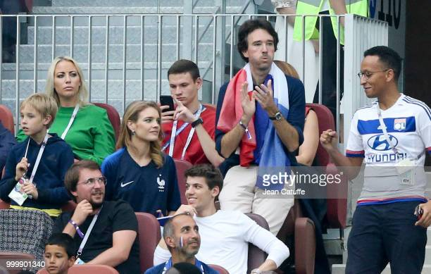 Antoine Arnault and his wife Natalia Vodianova during the 2018 FIFA World Cup Russia Final match between France and Croatia at Luzhniki Stadium on...
