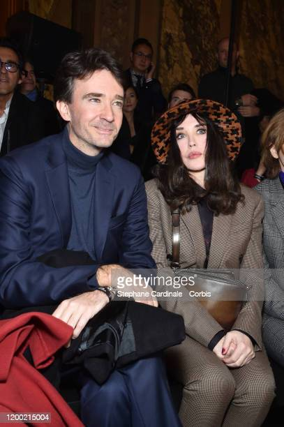 Antoine Arnault and Isabelle Adjani attend the Berluti Menswear Fall/Winter 20202021 show as part of Paris Fashion Week at Opera Garnier on January...