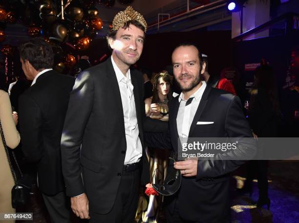 Antoine Arnault and Jean FrancoisMichel attend Moet Hennessy at The 2017 amfAR and The Naked Heart Foundation Fabulous Fund Fair on October 28 2017...
