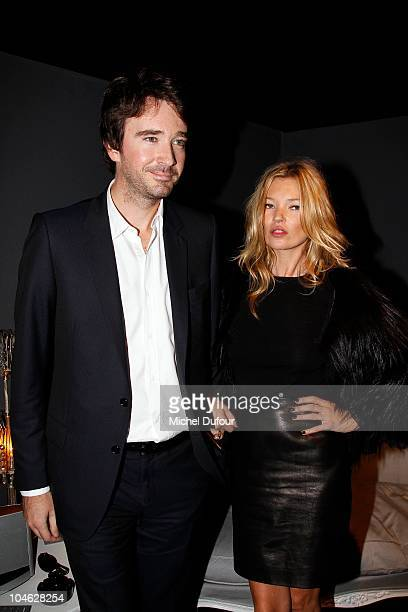 Antoine Arnault and Kate Moss attend the Christian Dior Ready to Wear Spring/Summer 2011 show during Paris Fashion Week at Espace Ephemere Tuileries...