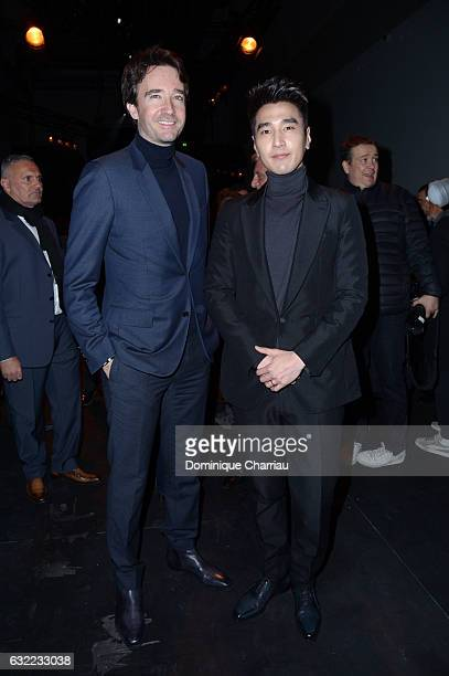 Antoine Arnault and Mark Chao attend the Berluti Menswear Fall/Winter 20172018 show as part of Paris Fashion Week on January 20 2017 in Paris France