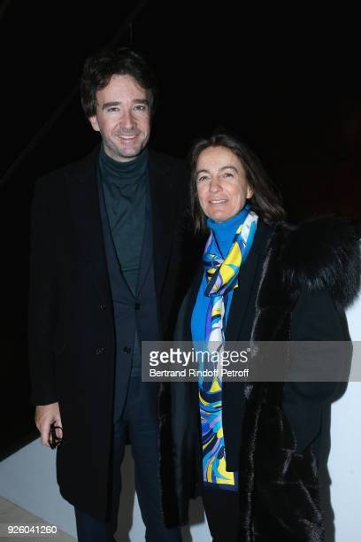 Antoine Arnault and Marquise Laudomia Pucci attend the LVMH Prize 2018 Designers Presentation on March 1 2018 in Paris France