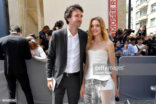 Antoine Arnault and Natalia Vodianova are seen at the Christian Dior Haute Couture Fall Winter 2018/2019 Show on July 2 2018 in Paris France