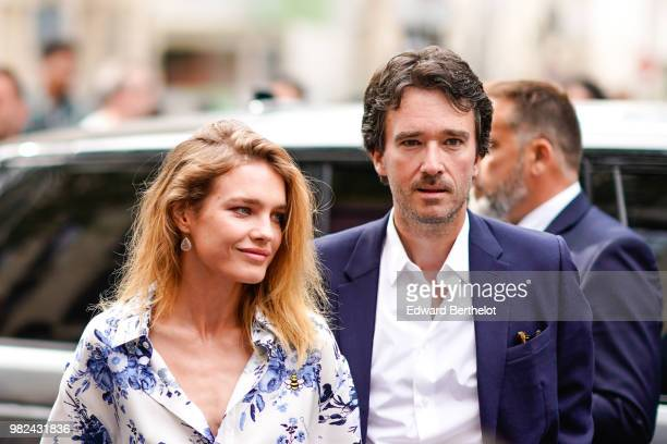 Antoine Arnault and Natalia Vodianova are seen outside Dior during Paris Fashion Week Menswear SpringSummer 2019 on June 23 2018 in Paris France