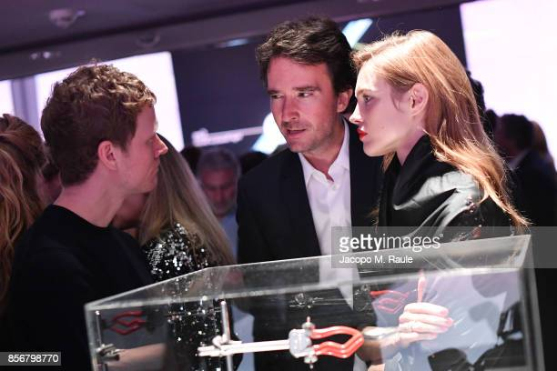 Antoine Arnault and Natalia Vodianova attend Fashion Tech Lab launch event hosted by Miroslava Duma and Stella McCartney as part of Paris Fashion...