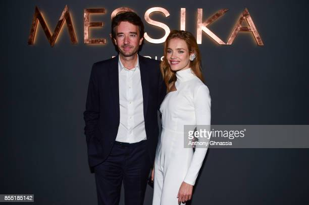 Antoine Arnault and Natalia Vodianova attend Messika cocktail as part of the Paris Fashion Week Womenswear Spring/Summer 2018 on September 27 2017 in...