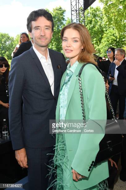 Antoine Arnault and Natalia Vodianova attend the Berluti Menswear Spring Summer 2020 show as part of Paris Fashion Week on June 21 2019 in Paris...