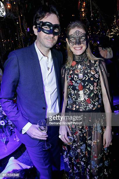 Antoine Arnault and Natalia Vodianova attend the Christian Dior Haute Couture Spring Summer 2017 Bal Masque as part of Paris Fashion Week on January...