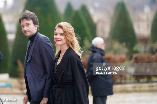 Antoine Arnault and Natalia Vodianova attend the Christian Dior Haute Couture Spring Summer 2018 show as part of Paris Fashion Week on January 22...