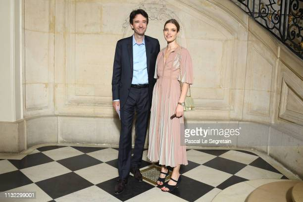 Antoine Arnault and Natalia Vodianova attend the Christian Dior show as part of the Paris Fashion Week Womenswear Fall/Winter 2019/2020 on February...