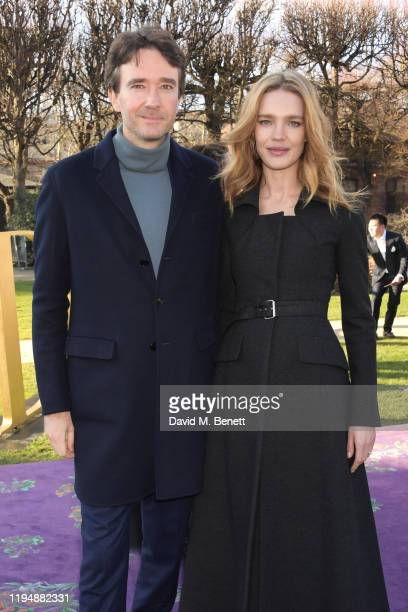 Antoine Arnault and Natalia Vodianova attend the Dior Haute Couture Spring/Summer 2020 show as part of Paris Fashion Week at Musee Rodin on January...
