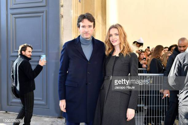 Antoine Arnault and Natalia Vodianova attend the Dior Haute Couture Spring/Summer 2020 show as part of Paris Fashion Week on January 20 2020 in Paris...