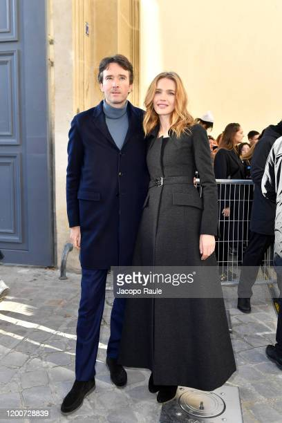 Antoine Arnault and Natalia Vodianova attend the Dior Haute Couture Spring/Summer 2020 show as part of Paris Fashion Week on January 20, 2020 in...