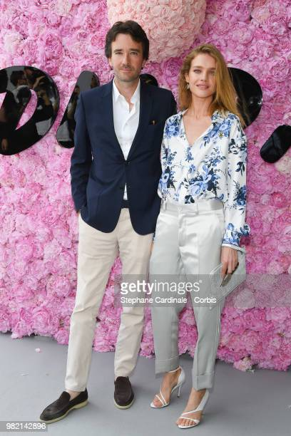 Antoine Arnault and Natalia Vodianova attend the Dior Homme Menswear Spring/Summer 2019 show as part of Paris Fashion Week Week on June 23 2018 in...