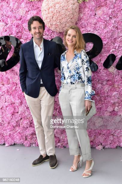 Antoine Arnault and Natalia Vodianova attend the Dior Homme Menswear Spring/Summer 2019 show as part of Paris Fashion Week on June 23 2018 in Paris...