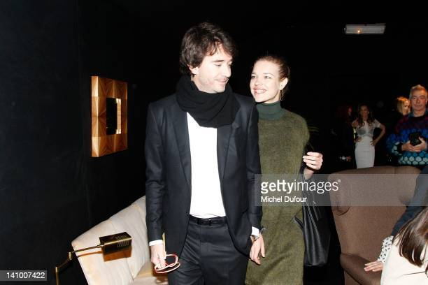 Antoine Arnault and Natalia Vodianova attend the Louis Vuitton ReadyToWear Fall/Winter 2012 show as part of Paris Fashion Week on March 7 2012 in...