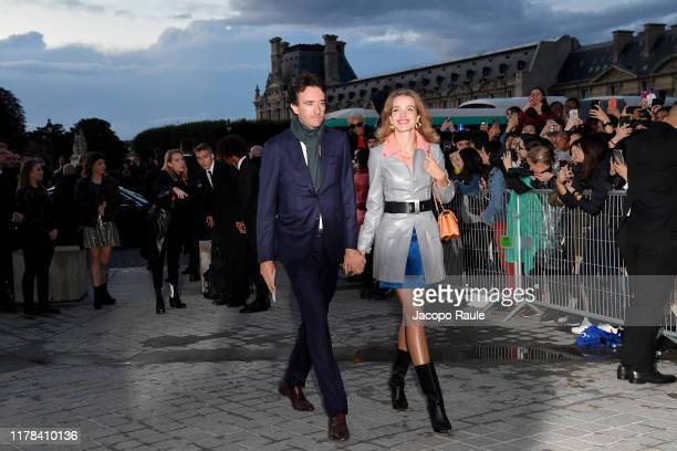 Antoine Arnault and Natalia Vodianova attend the Louis Vuitton Womenswear Spring/Summer 2020 show as part of Paris Fashion Week on October 01 2019 in...