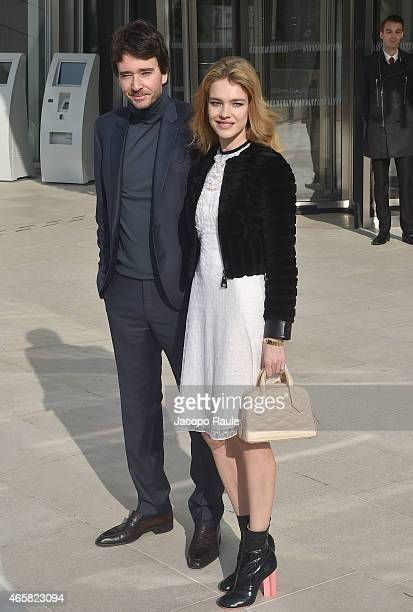 Antoine Arnault and Natalia Vodianova attend the Louis Vuitton show as part of Paris Fashion Week Fall Winter 2015/2016 on March 11 2015 in Paris...