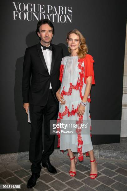 Antoine Arnault and Natalia Vodianova attend the Vogue Foundation Dinner Photocall as part of Paris Fashion Week Haute Couture Fall/Winter 20182019...