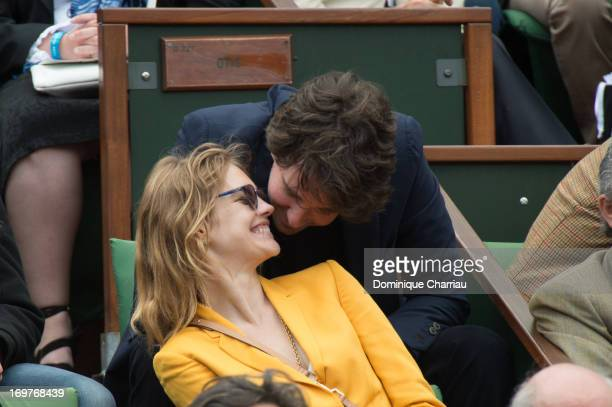 Antoine Arnault and Natalia Vodianova sighting At French Open 2013 at Roland Garros on June 1 2013 in Paris France