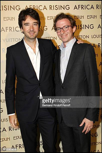 Antoine Arnault and Son Cousin Ludovic Watine Arnault at Every Journey Began In Africa Party For The Exhibition Africa Rising And The Discovery Of...
