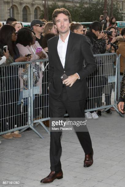 Antoine Arnault attends the 'Louis Vuitton' fashion show at Louvre Pyramid on October 3 2017 in Paris France