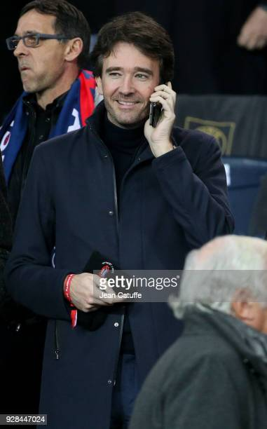 Antoine Arnault attends the UEFA Champions League Round of 16 Second Leg match between Paris SaintGermain and Real Madrid at Parc des Princes stadium...
