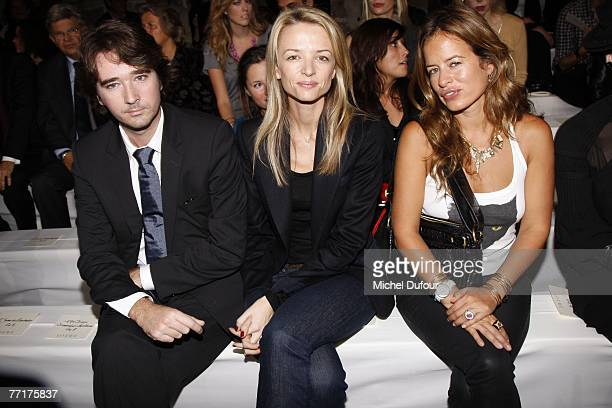 Antoine Arnault Delphine Arnault and Jade Jagger attends the Loewe fashion show during the Spring/Summer 2008 readytowear collection show at Couvent...