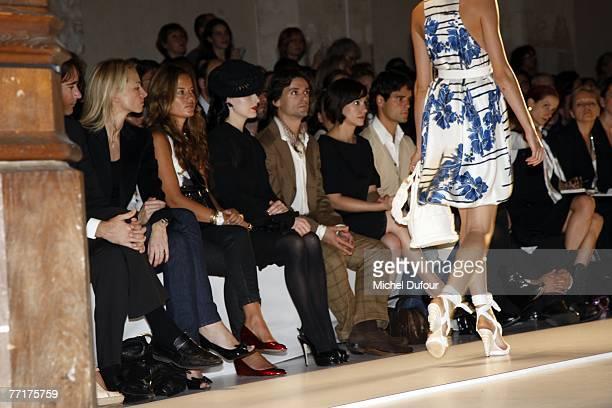 Antoine Arnault Delphine Arnault Dita von Teese Angel Corella Natalia Verbeke and Miguel Abellan attends the Loewe fashion show during the...