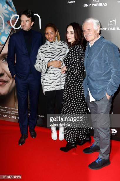 Antoine Arnault Estelle Mossely Anastasia Mikova and Yann Arthus Bertrand attend the Woman Premiere At UGC Normandie on March 03 2020 in Paris France