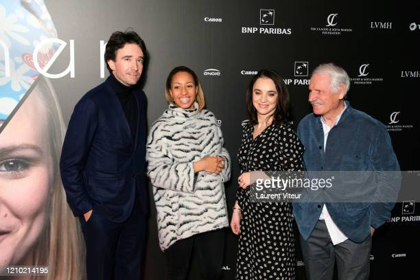 Antoine Arnault Estelle Mossely Anastasia Mikova and Yann ArthusBertrand attend the Woman Premiere At UGC Normandie on March 03 2020 in Paris France
