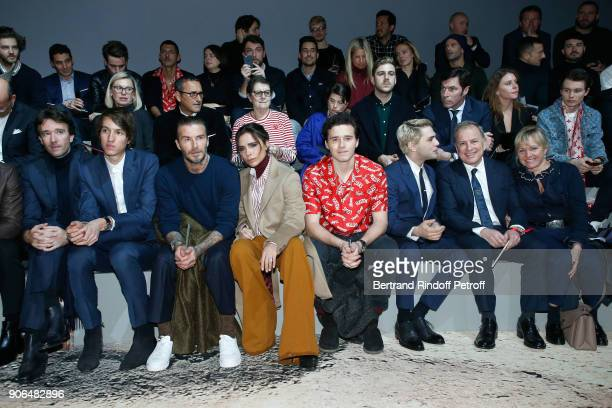 Antoine Arnault his brother Alexandre Arnault David Beckham Victoria Beckham their son Brooklyn Beckham Xavier Dolan CEO of Louis Vuitton Michael...