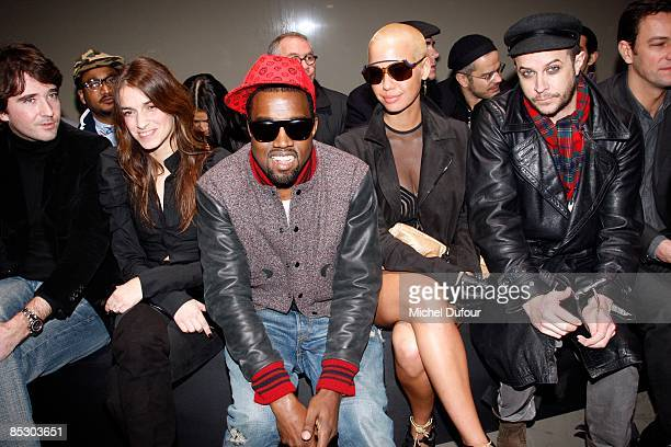 Antoine Arnault Joana Preiss Kaye West Amber Rose and Casey Spooner attend the Givenchy ReadytoWear A/W 2009 fashion show during Paris Fashion Week...