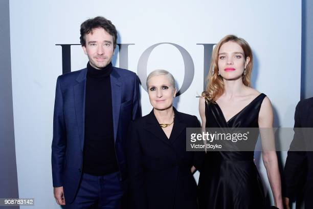 Antoine Arnault Maria Grazia Chiuri and Natalia Vodianova attend the Christian Dior Haute Couture Spring Summer 2018 show as part of Paris Fashion...