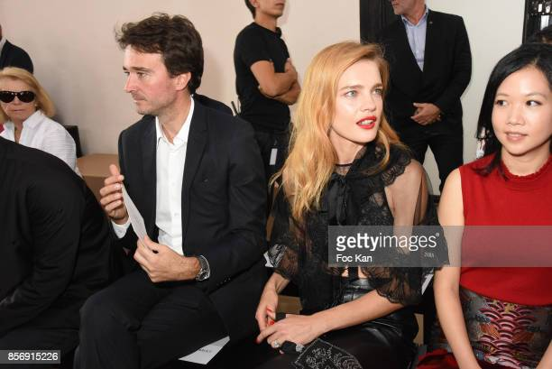 Antoine Arnault Natalia Vodianova and a guest attend the Schiatzy Chen show as part of the Paris Fashion Week Womenswear Spring/Summer 2018 on...