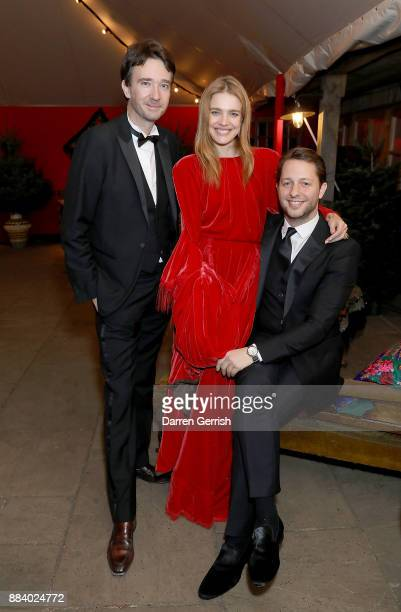 Antoine Arnault Natalia Vodianova and Derek Blasberg attend the gala dinner during #BoFVOICES on December 1 2017 in Oxfordshire England