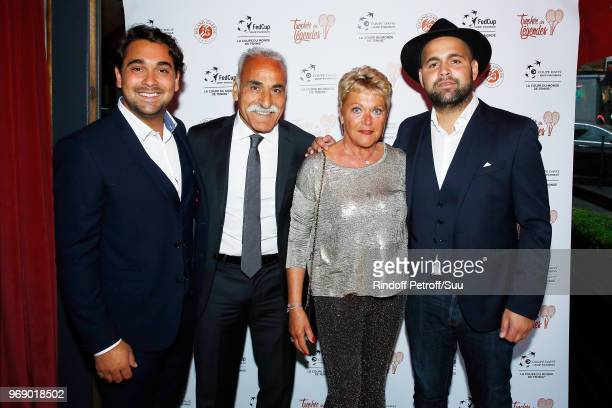 "Antoine Bahrami, Mansour Bahrami, Frederique Bahrami and Sam Bahrami attend ""Diner des Legendes"" at Le Fouquet's on June 6, 2018 in Paris, France."