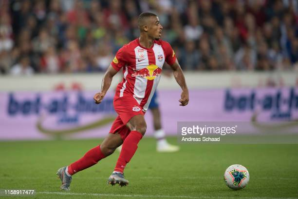 Antoine Bernede of FC Red Bull Salzburg during the preseason friendly match between RB Salzburg and FC Chelsea at Red Bull Arena on July 31 2019 in...