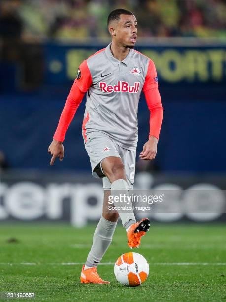Antoine Bernede of FC Salzburg during the UEFA Europa League match between Villarreal v Salzburg at the Estadio de la Ceramica on February 25, 2021...