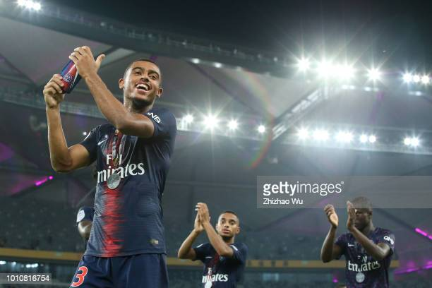 Antoine Bernede of Paris Saint Germain celebrates the champion after the match between Paris Saint Germain and Monaco at Shenzhen Longgang Sports...