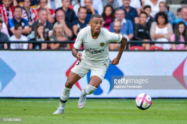 Antoine Bernede of Paris Saint Germain during the French Ligue 1 match between EA Guingamp and Paris Saint Germain at Stade du Roudourou on August 18...