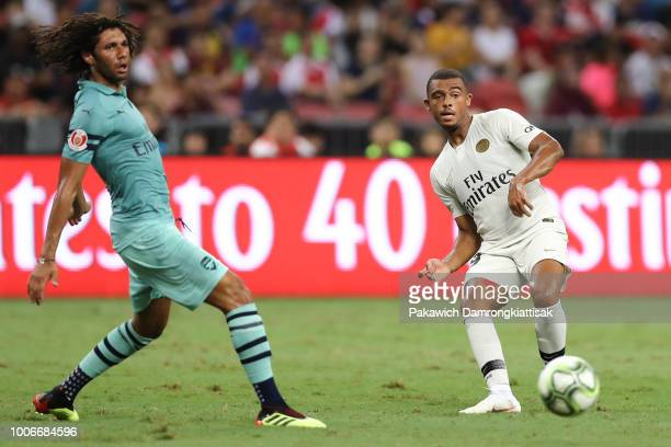 Antoine Bernede of Paris Saint Germain passes the ball during the International Champions Cup match between Arsenal and Paris Saint Germain at the...