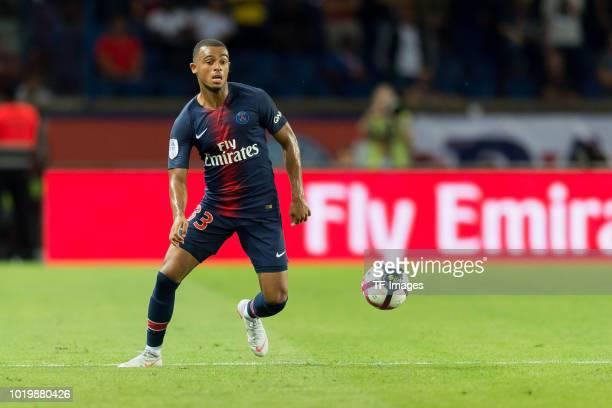 Antoine Bernede of Paris St Germain controls the ball during the Ligue 1 match between Paris SaintGermain and SM Caen at Parc des Princes on August...