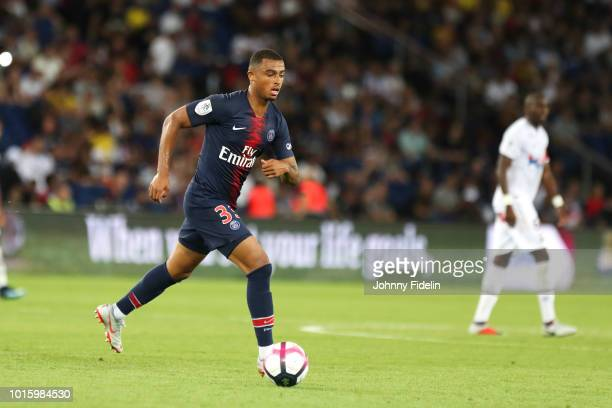 Antoine Bernede of PSG during the French Ligue 1 match between Paris Saint Germain and Caen at Parc des Princes on August 12 2018 in Paris France