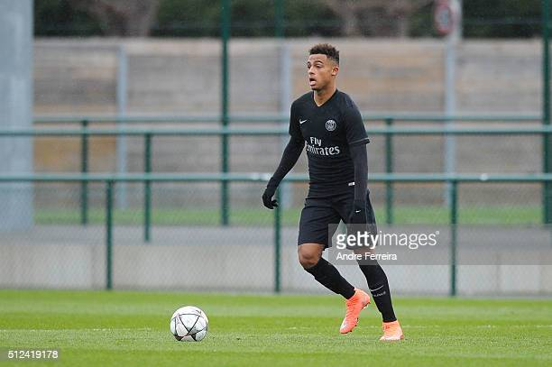 Antoine Bernede of PSG during the Youth League match between Paris Saint-Germain v Middlesbrough at Camp des Loges on February 24, 2016 in Paris,...