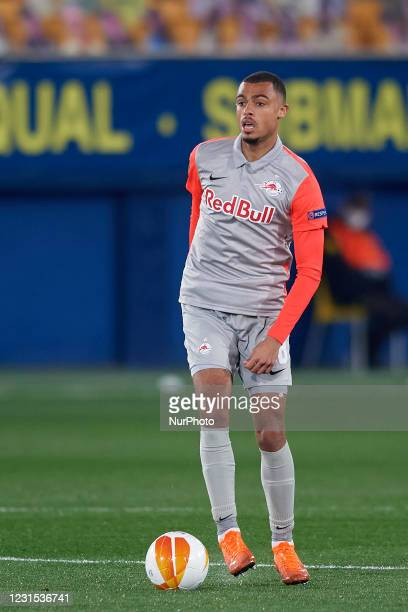 Antoine Bernede of RB Salzburg in action during the UEFA Europa League Round of 32 match between Villarreal CF and RB Salzburg at Estadio de la...