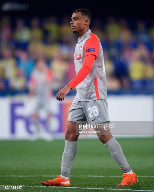 Antoine Bernede of RB Salzburg looks on during the UEFA Europa League Round of 32 second leg match between Villarreal CF and RB Salzburg at Estadio...