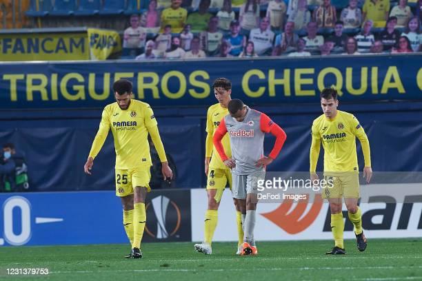 Antoine Bernede of Red Bull Sazlburg looks dejected after goal of Villarreal during the UEFA Europa League Round of 32 match between Villarreal CF...