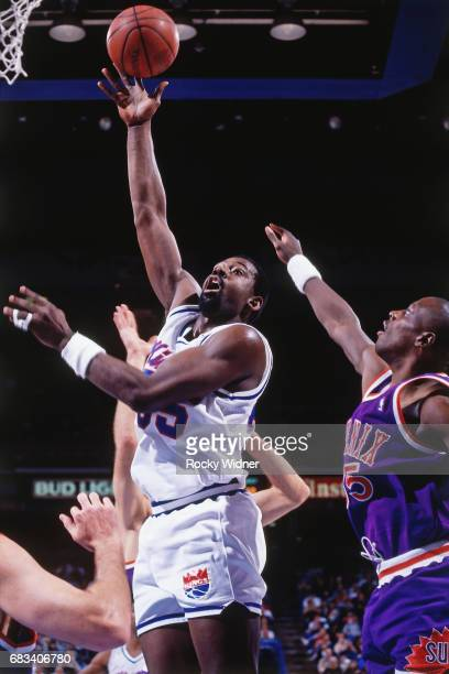 Antoine Carr of the Sacramento Kings goes to the basket during the game circa 1991 at Arco Arena in Sacramento California NOTE TO USER User expressly...