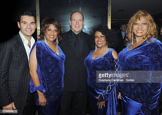 Antoine Chevanne HSH Prince Albert II of Monaco and The Supremes attend the Opening Party of the Black Legend Club in Monaco